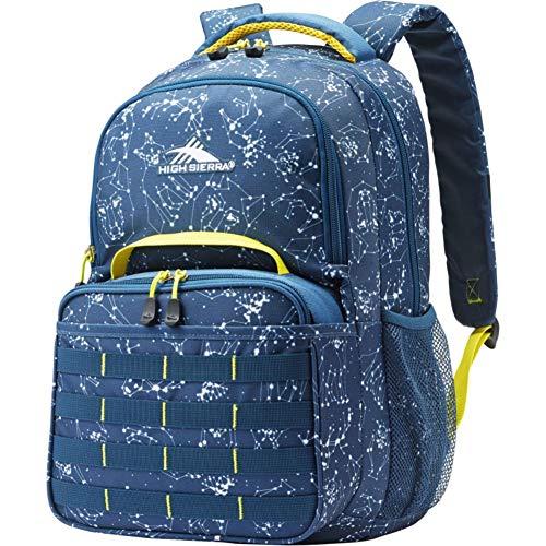 High Sierra Kids' Joel Lunch Kit Backpack, Space Creatures/Rust.Blue/Glow, One Size