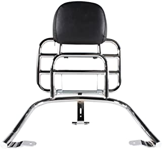 Prima Rear Rack (Backrest, Chrome); Vespa GTS, GT300, GTV