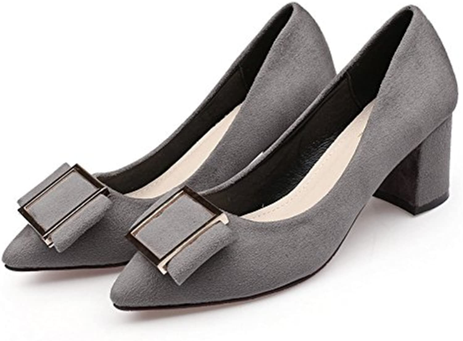 WHW Women shoes on pointed-toe high-heel shoes to tie in with the light shoe ,grey,35 Single Port