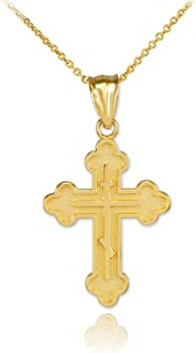 greek gold cross pendants