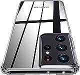 QITAYO per Custodia Samsung Galaxy S21 Ultra, Trasparente Silicone Morbido, Antiurto AntiGraffio Protettiva Cover Case Custodia per Samsung Galaxy S21 Ultra -Trasparente