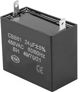 CBB61 Condensador de funcionamiento 450 V CA 24 uF Condensador de generador de gasolina pequeño Condensadores de película de polipropileno metalizado de 2 terminales para motor de ventilador de techo