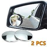 Specchietti per Angolo Morto 360 rotazione Regolabile, Punto Cieco Specchio Angolo Cieco Regolabile Auto Specchio Laterale Auto Laterale Specchio Convesso Retrovisore Blind Spot Mirror (Tondo)