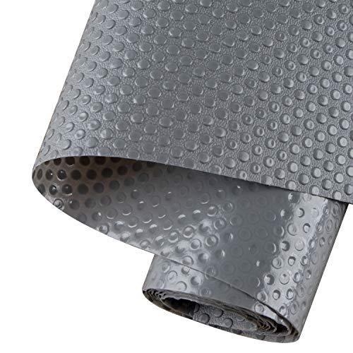 AWNIC Antideslizante Alfombra Cocina 3-Rolls Estantes gabinete Estera Cuttable Impermeable Estera del refrigerador Forro de cajón Reutilizable EVA Protector Antideslizante Gris 45X150cm