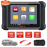 Autel MaxiSys MS906BT Automotive Scan Tool, 2021 Newest Car Diagnostic Scanner with All System Diagnostics & 31 Services, ECU Coding, Active Test, Oil Reset, EPB, SAS, DPF, Upgraded Ver. of MS906