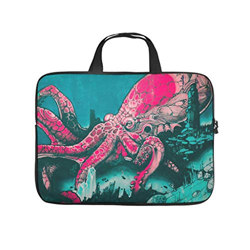 Octopus Laptop Case Sleeve Bag Water-Resistant Durable Office Bag for Work/Business/School/College/Travel White 17 Zoll