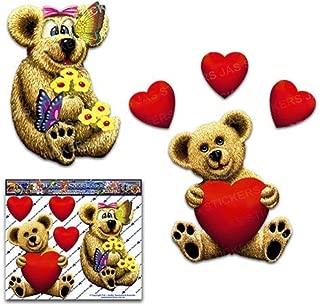 テディベア小さな子供のおもちゃ愛の心動物かわいい面白いデカール車のステッカー - ST00068_LGE - JASステッカー