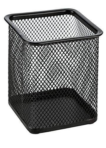 Idena 14868 - Butler Metall, eckig, 8 x 8 x 9.5 cm, schwarz, 1 Stück