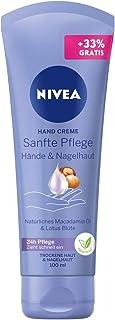 Nivea Crema per le mani (100 ml), ricca crema per la pelle con olio di macadamia e fiore di loto, cura intensiva delle man...