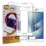 Guran [2 Pezzi Pellicola Vetro Temperato per ASUS Zenfone4 Max ZC554KL / Zenfone4 Max PRO / Zenfone4 Max Plus Smartphone Copertura Completa 9H Durezza HD Pellicola Protettiva - Bianco