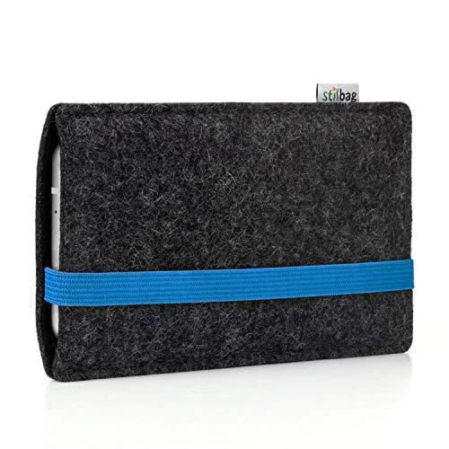 Stilbag Custodia di feltro 'LEON' per Nokia 4.2 - Colore: blu - antracite