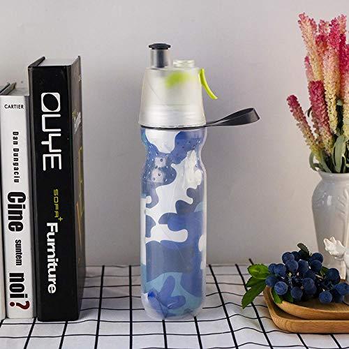 Botella de Agua Deportiva,Prueba de Fugas, Botella Agua Reutilizable para Excursionismo, Ciclismo, Running, Acampada, Gimnasio y Viajes -Camuflaje_500ml