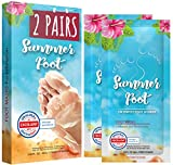 Summer Foot I 2 Pack I Premium Foot Mask for Baby Soft Feet | Exfoliating Foot Peel & Callus Remover for Feet - Repair rough heels one-time treatment