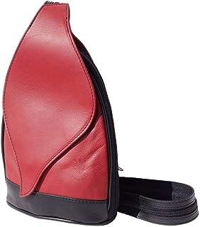 FLORENCE LEATHER MARKET Borsa-Zaino da donna in pelle 22x9x36 cm - Foglia Gm - Made in Italy