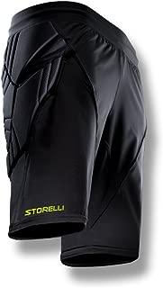 Storelli ExoShield Goalkeeper Shorts |Soccer Equipment |Anti-Bacterial|Sweat-Wicking|Black