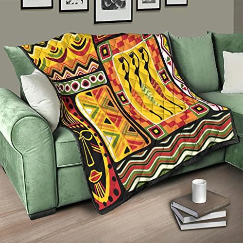 Flowerhome Colcha tribal Mayan azteca, colcha para cama, sofá, cama, reversible, para sofá, cama, color blanco, 230 x 260 cm