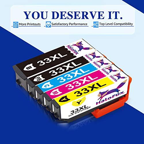HaloFox Reemplazo para Epson 33XL Cartuchos De Tinta para Epson Expression Premium XP-900 XP-7100 XP-530 XP-540 XP-630 XP-635 XP-640 XP-645 XP-830 Impresoras de la Serie (Paquete de 15)