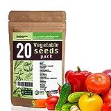20 Vegetable Seeds Variety - USA Grown for Indoor or Outdoor Garden -...