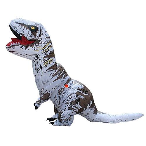 YOWESHOP T-Rex Dinosaure Gonflable Costume de Noël – Fête d'halloween Déguisement Cosplay Costume pour Adulte