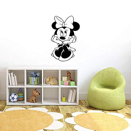 Décoration murale Mickey Minnie Mouse Enfants Minnie Mouse maison ornement intérieur autocollant affiche dessin animé pour bébé fille chambre de bébé