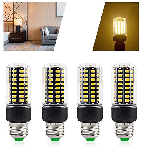 7W Lamp Bulbs 70W Equivalent, 2700K LED Corn Light Bulb, Bright 700 Lumen, Non Dimmable, Energy Saving Light Bulbs, 4 Packs