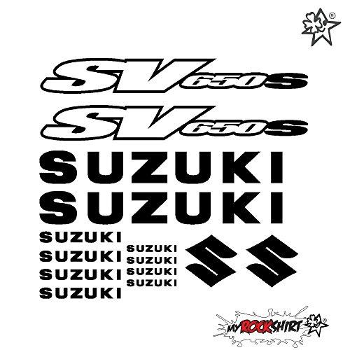 SUZUKI SV 650 SET 20 cm Tuning Aufkleber Sticker Decal `+ Bonus Testaufkleber