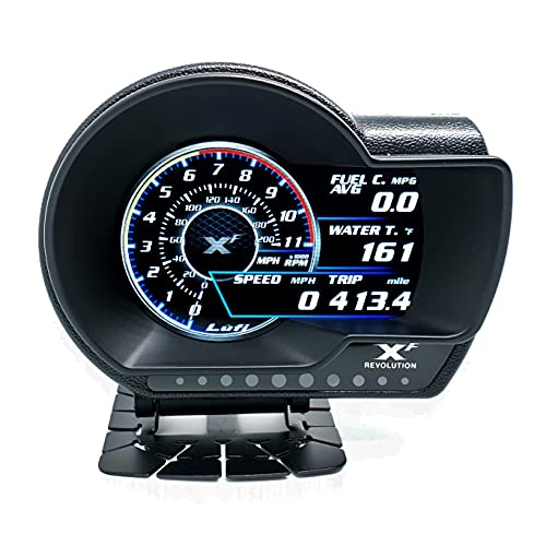 Lufi XF Revolution OBD2 Multi-Data Heads Up Display Highly Customizable, Accurate And Fast Response [Will NOT Work With Cars Before 2006]