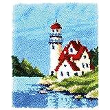 Vervaco PN-0168737 Leuchtturm Knüpfpackung Teppich, Baumwolle, mehrfarbig, ca. 43 x 54 cm / 17,2' x...
