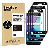 ivoler [3 Unidades] Protector de Pantalla Compatible con Samsung Galaxy J7 2017, [Cobertura Completa] Cristal Vidrio Templado Premium, [Dureza 9H] [Anti-Arañazos] [Sin Burbujas]