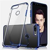 Cover Huawei Honor 9 Lite Custodia,ikasus Placcatura paraurti Cover Custodia Gel Trasparente Morbida Silicone Sottile TPU Protettiva Resistente Ai Graffi Case Cover per Huawei Honor 9 Lite,Blu