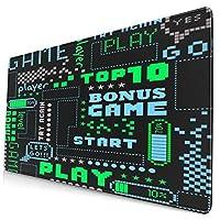 KIMDFACE 大型 マウスパッド 縦縞の背景の星の芸術的なデザインの野球のパターン 個性的 おしゃれ 柔軟 かわいい ゲーミングマウスパッド PC ノートパソコン オフィス用 デスクマット 滑り止め 特大 マウスマット