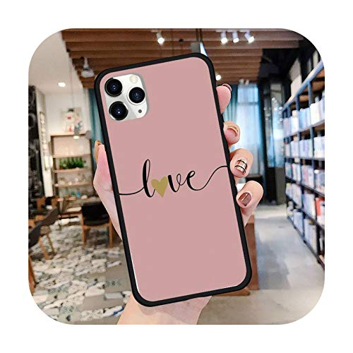 Love Heart Pink Marble Cute Phone Case For iPhone 8 11 12 Redmi Note 8 9 S Huawei P 30 Pro Lite Plus Cover Shell Funda-a18-Redmi Note 9S