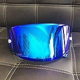 11 Colores Dorado Iridium Motorcycle Face Helmet Lens Funda de Lente de Visera para Shoei X14 X-14 Z7 CWR-1 NXR RF-1200 X-Spirit 3 Mascarilla de Visor (Color : Ice Blue)