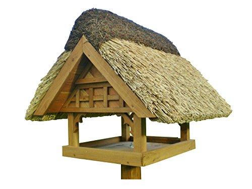 REETDACH VOGELVILLA FACHWERK Stil Danzig Vogelhaus Futterhaus ohne Ständer