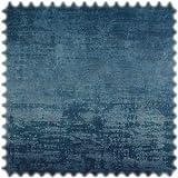 Heiro Vintage Samt Velours Möbelstoff Royal Blau mit