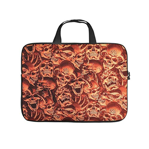 Water Resistant Devil Skull Durable Office Bag Laptop Tote Bag - for Men Women Boys Girls white2 13 Zoll