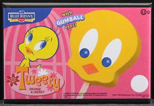 Tweety Bird Ice Cream Bars Refrigerator Magnet.