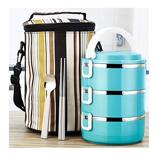 QWET lunchbox met geïsoleerd lunchpakket, stapelbare lunchboxen van roestvrij staal met lepel