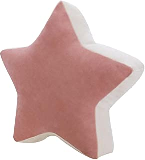 FAKEME Almofada de Criança Fofa Estrela Lua Almofada Almofada de Pelúcia Brinquedo - Estrela rosa