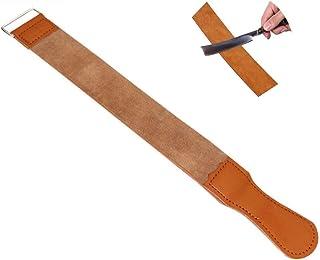 Straight Razor Strop Leather Sharpening Strap Barber Leather Razor Belt (1pcs, Brown)