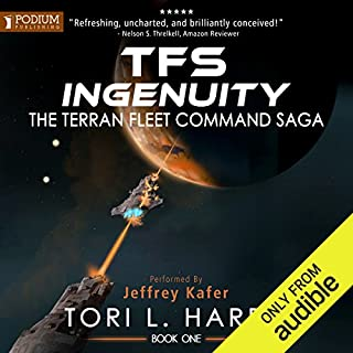 TFS Ingenuity     The Terran Fleet Command Saga, Book 1              By:                                                                                                                                 Tori L. Harris                               Narrated by:                                                                                                                                 Jeffrey Kafer                      Length: 6 hrs and 8 mins     147 ratings     Overall 4.5