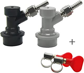 Beer Keg Ball Lock Disconnect - Brand Luckeg include Ball Lock Gas Disconnect,Liquid Disconnect, Barbed Swivel Nuts, Worm Clamp for Homebrewing Beer Kegging