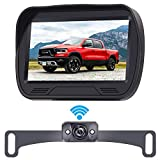 LeeKooLuu F03 Digital Wireless Backup Camera HD 720P System 4.3 Inch LCD Monitor High-Speed Observation System Hitch Rear View Camera Front View Camera with Super Night Vision for Trucks,Cars,Campers
