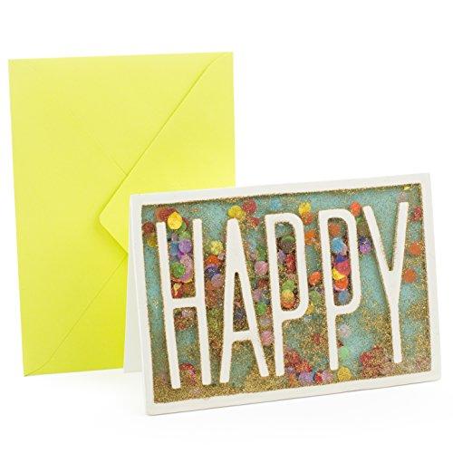 Hallmark Signature Birthday Card (Happy Glitter Confetti) (0799RZH4028)