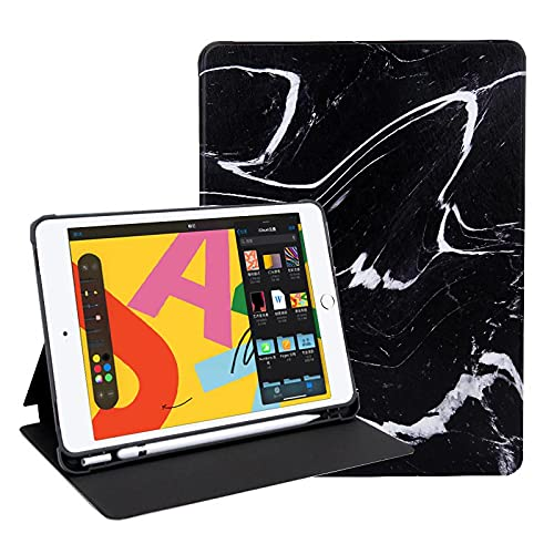 IPad Pro 12.9 2017/2015 Case, Cartoons Folio Smart Case with Pencil Holder, Auto Sleep/Wake Feature, Soft TPU Back Cover for Ipad Pro 12.9 1St&2Nd Generation 2015 & 2017,marble