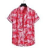 YSYOkow Camisas hawaianas brillantes para hombre para vacaciones de primavera y verano, camisa elástica horizontal para chicos