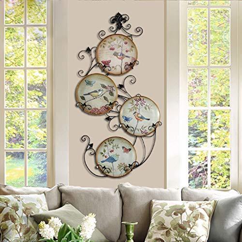 CKH Marco de Hierro Placa Decorativa de cerámica Americana Colgante Decoración de la Pared Hogar Craft Placa Rack Disco