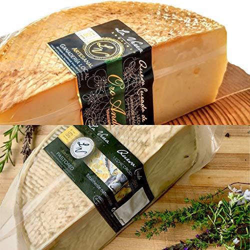 Degustación Quesos La Verea Andaluza. LOTE 4 (Queso CABRA PAYOYO 750g + Queso ORO ANDALUZ vaca 500g en AOVE) Packs combinados de quesos artesanos. Totalmente Natural