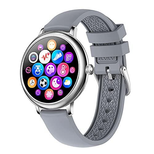 VBF Smart Watch, NY12 Forme la Pantalla Redonda de la Pantalla Redonda, Monitor de Ritmo cardíaco de la niña, Adecuado para Android y iOS,B