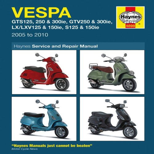 Haynes Vespa Scooters Service and Repair Manual